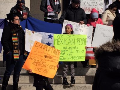 #daywithoutimmigrants Protest, Photo by Paola Santiago
