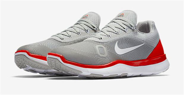 427d59849d A new Ohio State themed version of the ultralight Nike Free Trainer V7  sneaker is available for purchase today. Nike only releases new college  themed gear a ...