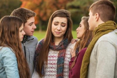 sad teenagers