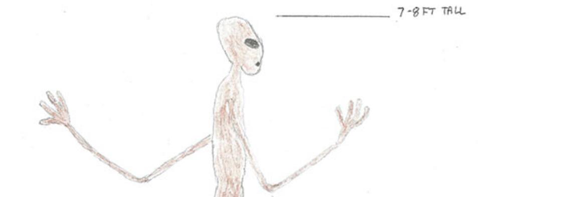Amateur sketch: Alien sighting 1 hour north of Columbus – 614NOW